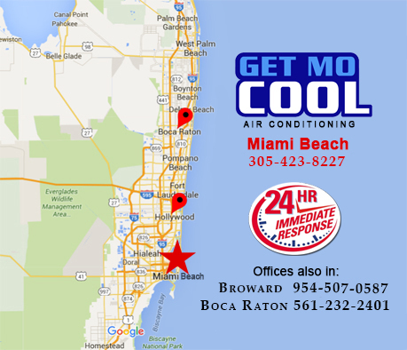 Coverage area in Miami Beach for AC Leaking Wate Repairr